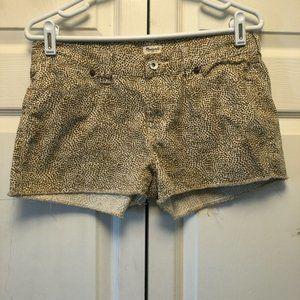 Madewell Patterned Rough Hem Shorts
